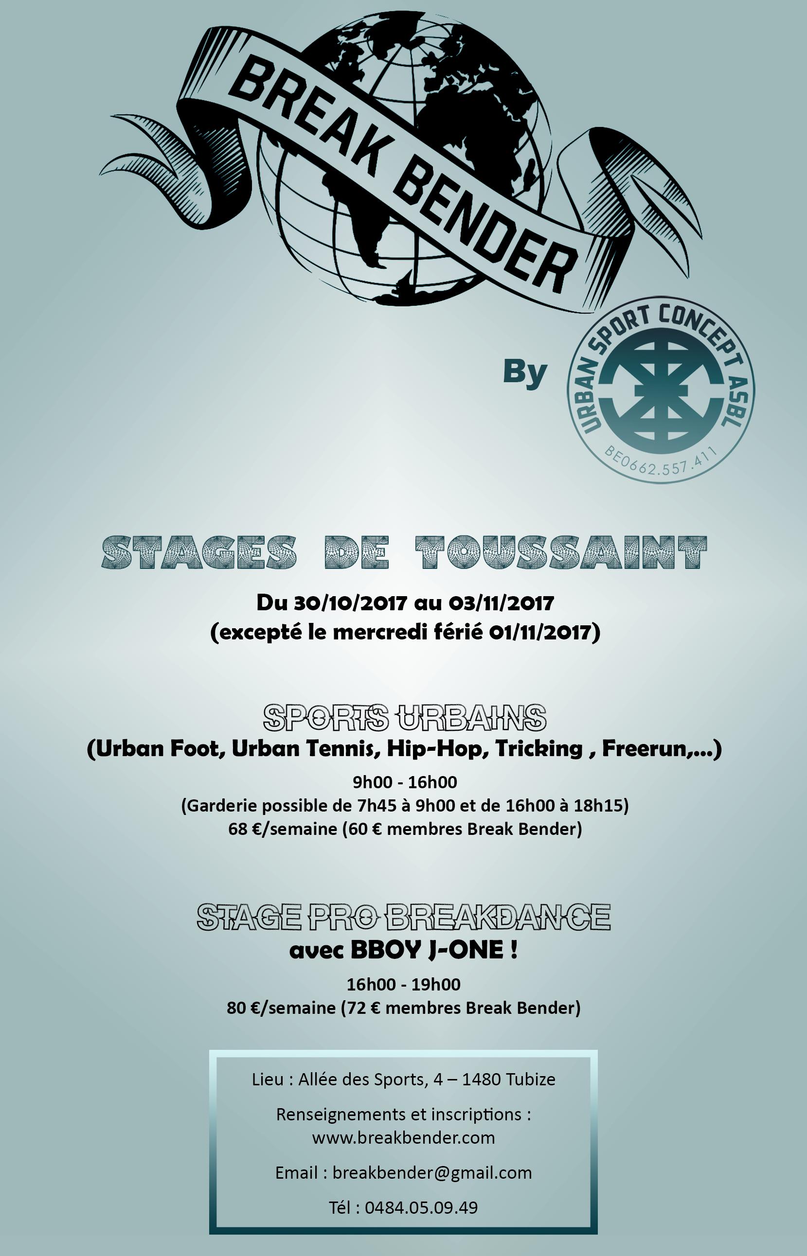 Stage Toussaint Break Bender