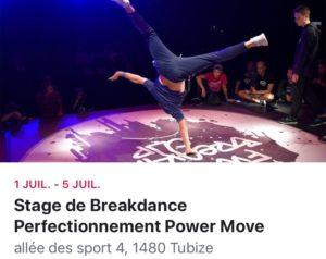 Stage de perfectionnement Power Move